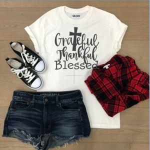 Grateful Thankful blessed tshirt